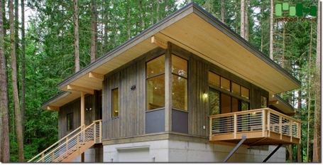 Form and forest modern prefab cabin kits joy studio for Eco cabin kits