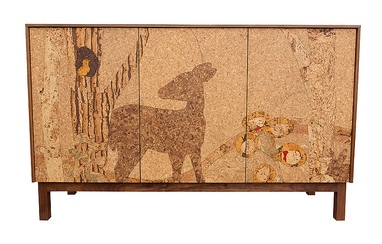 The Team At Iannone Design Utilizes An Array Of Cork Hues To Create A  Stunning Depiction Of The Wild. The Decorative Doors Of Their Cork Mosaic  Sideboard ...