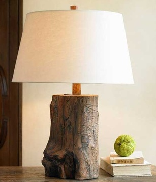 Rustic Illumination With The Tree Trunk Lamp Ecosalon